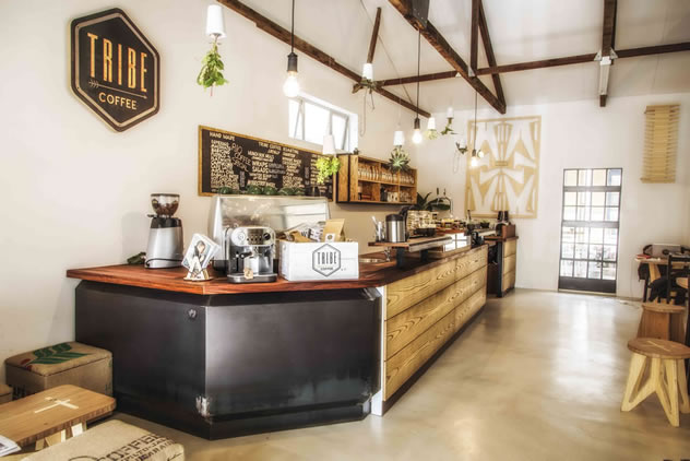 The inside ofTribe Coffee. Photo courtesy of the restaurant.