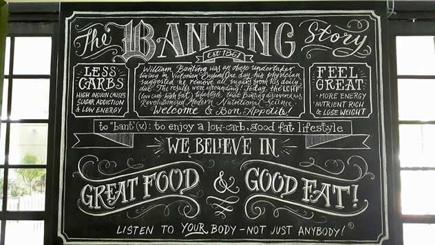 The Banting story . Photo courtesy of the restaurant.