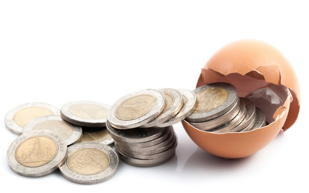 Roberto's efforts to turn eggs shells into money triumph at long last.