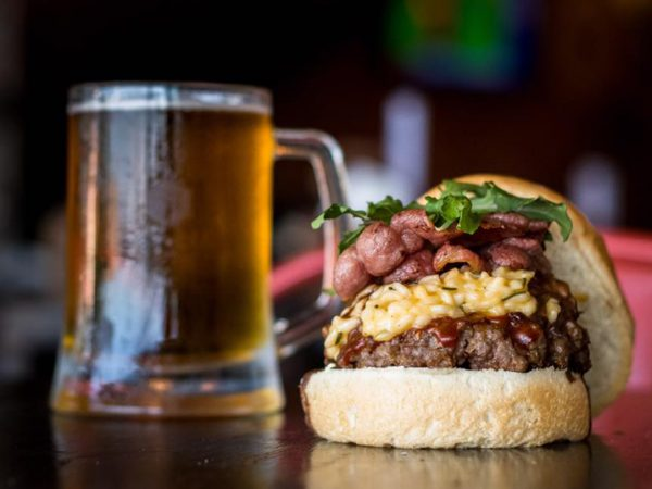 burgers and beer prepared and served at Republik