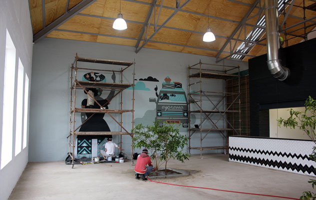 Progress at The Boiler Room Cafe set to open at the start of October.