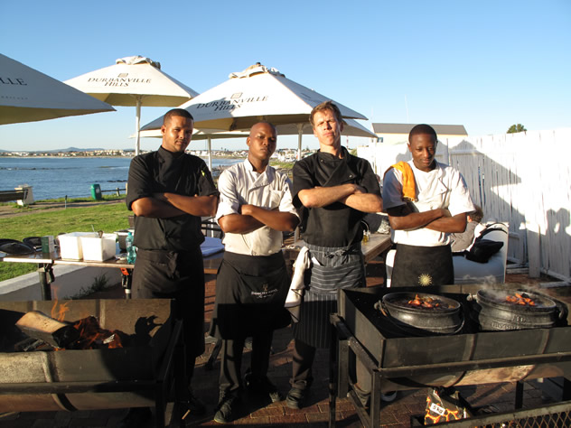 Braaing at Castella Amare. Photo courtesy of the restaurant.