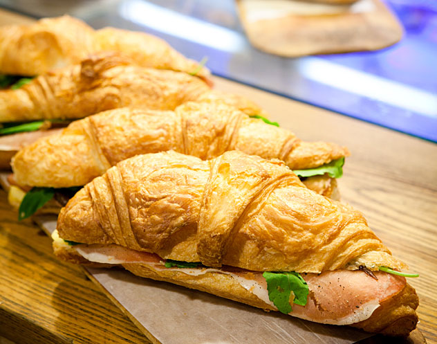 Croissants at Knead Wembley Square. Photo courtesy of the restaurant.