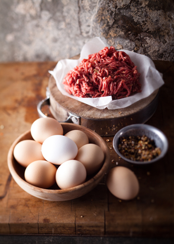 Farmer Angus's eggs and mince, winners of the free-range category at the 2013 Eat Out Produce Awards