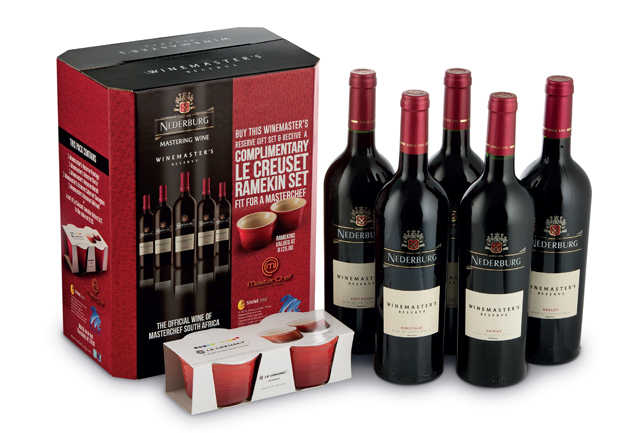 Win a Nederburg Winemaster's Reserve gift set with a Le Creuset ramekin set