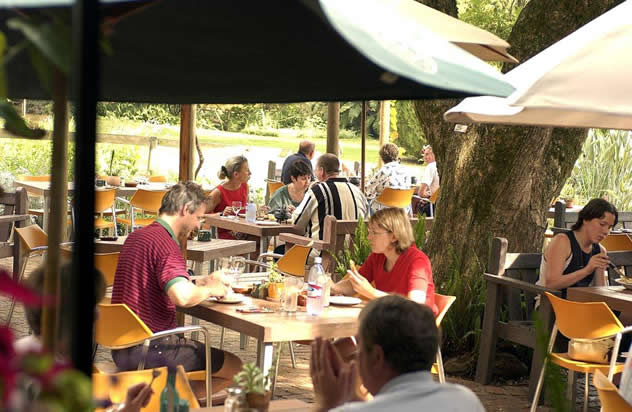 Outside lunch at Delheim Garden Restaurant. Photo courtesy of the restaurant.