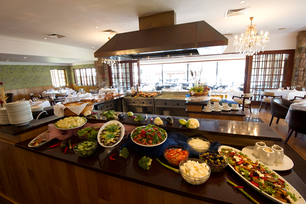 The Buffet Station at Meadow Green Restaurant at African Pride Irene Country Lodge. Photo courtesy of the restaurant.