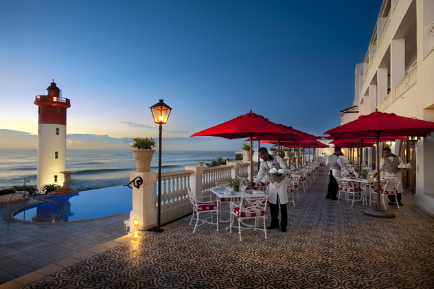 The deck at The Ocean Terrace. Photo courtesy of the restaurant.
