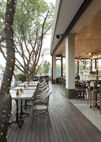 The deck of the LIFE Grand Café in Pretoria. Photo courtesy of the restaurant.