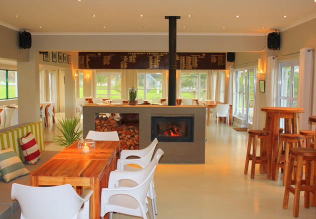 The interior at The Clubhouse at Claremont Cricket Club. Photo courtesy of the clubhouse.