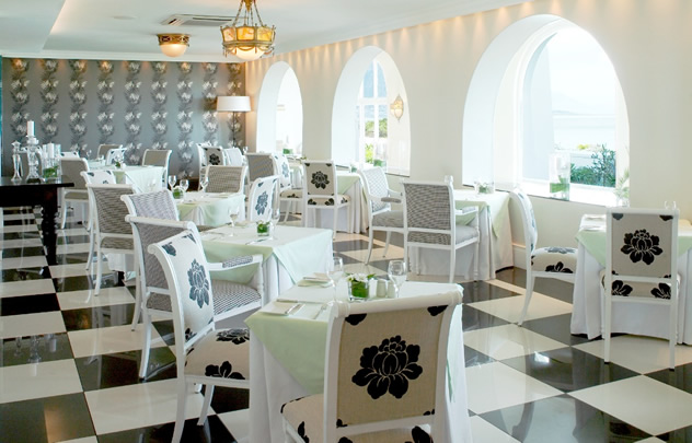 The interior at the Pavilion Restaurant at The Marine. Photo courtesy of the restaurant.