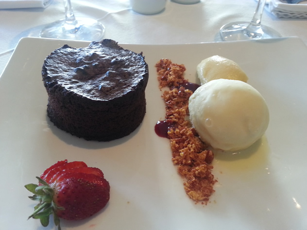 A chocolate dessert at 9th Avenue Bistro. Photo courtesy of the restaurant.