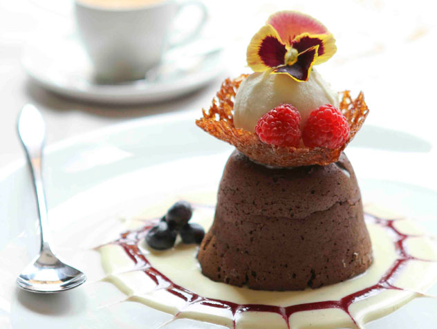 A delectable chocolate dessert from Cafe Beyritz. Photo courtesy of the restaurant.