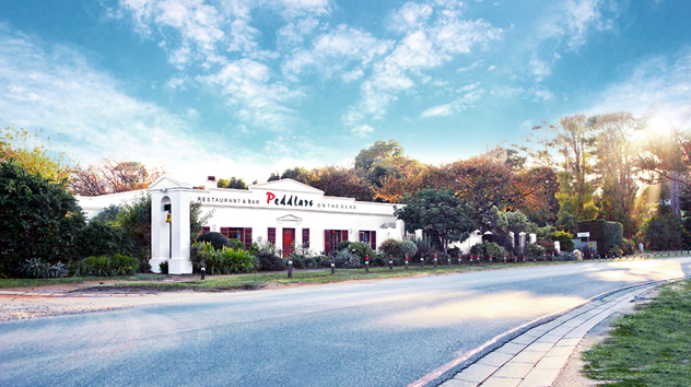 An outside view of Peddlars on the Bend. Photo courtesy of the restaurant.