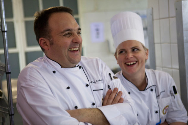 Chef Rudi and pastry chef Vicky Gurovich of Planet.
