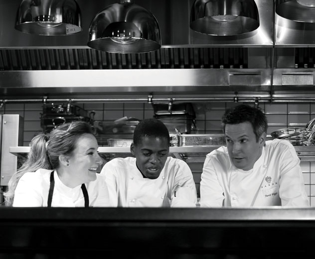 In the kitchen at Five Hundred