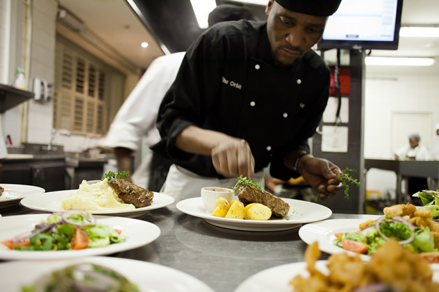 Food in the kitchen at The Orbit Jazz Club and Bistro. Photo courtesy of the restaurant.