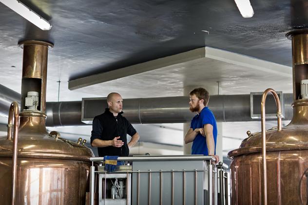 The distiller at Devil's Peak Taproom. Photo courtesy of the restaurant.