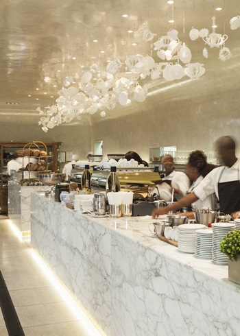 The interior at tashas le Parc. Photo courtesy of the restaurant.