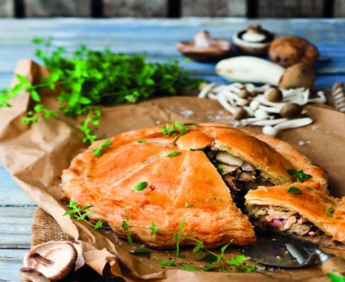 Autumn harvest potato and mushroom pie Recipe - EatOut