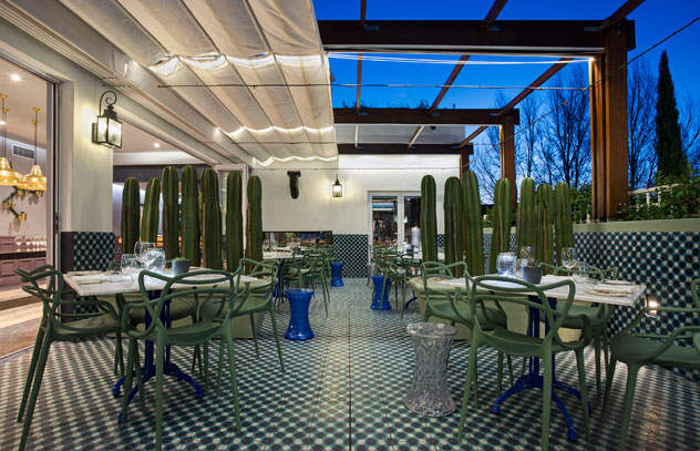 The terrace at Makaron. Photo courtesy of the restaurant.