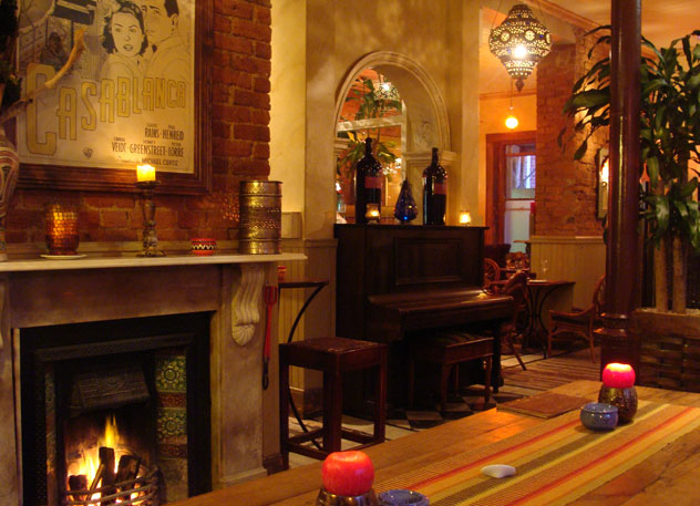 One of the fireplaces at Rick's. Photo courtesy of the restaurant.