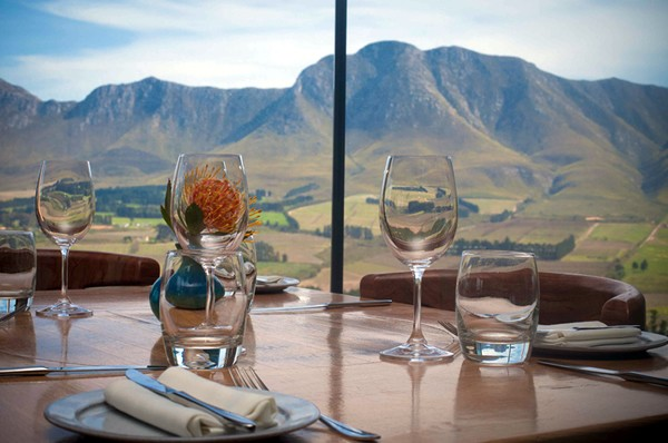 A view of the Boland mountains at The Restaurant at Newton Johnson. Photo supplied.