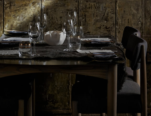 The table setting atThe Test Kitchen. Photo courtesy of the restaurant.