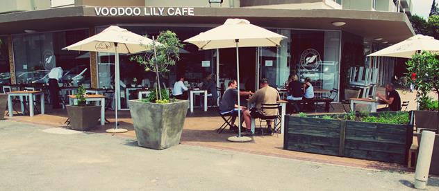 Outside tables at Voodoo Lily Café. Photo courtesy of the restaurant.