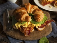 Bacon and cheese croissant