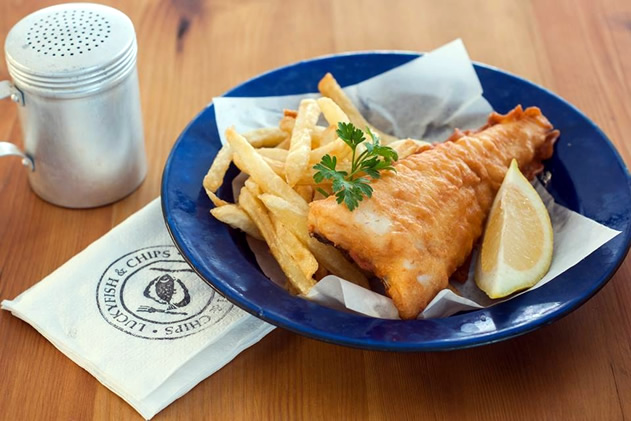 Lucky fish and chips. Photo courtesy of the restaurant.