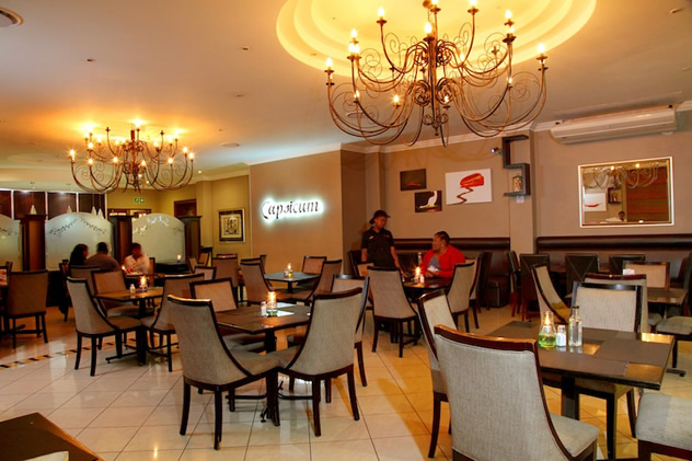 Capsicum Restaurant at the Britannia Hotel. Photo courtesy of the restaurant.