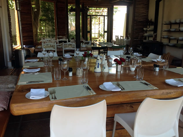 The table setting at Fresh at Paul Cluver. Photo courtesy of the restaurant.