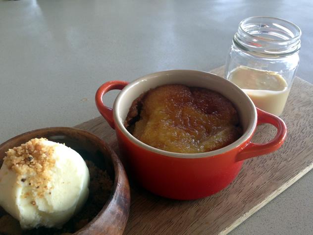 Tannie Hetta's apple pie with vanilla ice cream and homemade custard