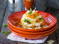 Butternut and ricotta open lasagne