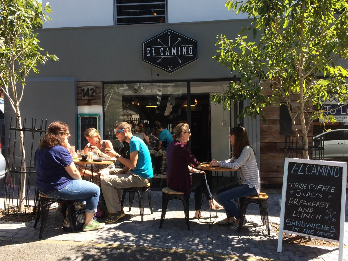 customers having lunch outside at El Camino