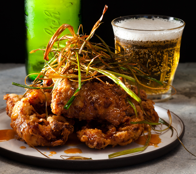 Grolsch maple syrup drizzled chicken