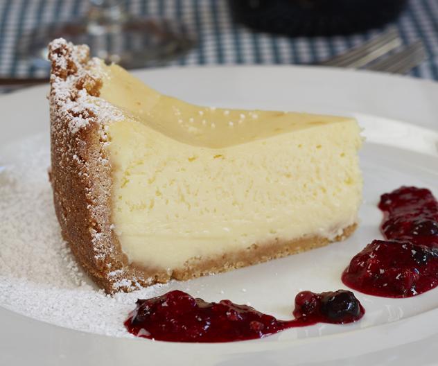 Cheesecake at Hilda's at Groote Post
