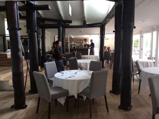 The interior at La Colombe