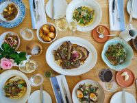 food on the table at The Werf Restaurant at Boschendal