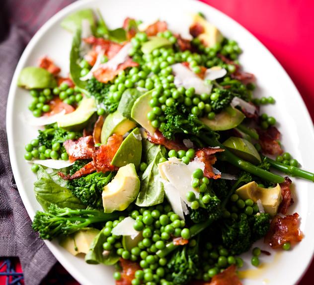 Broccoli, avo and bacon salad