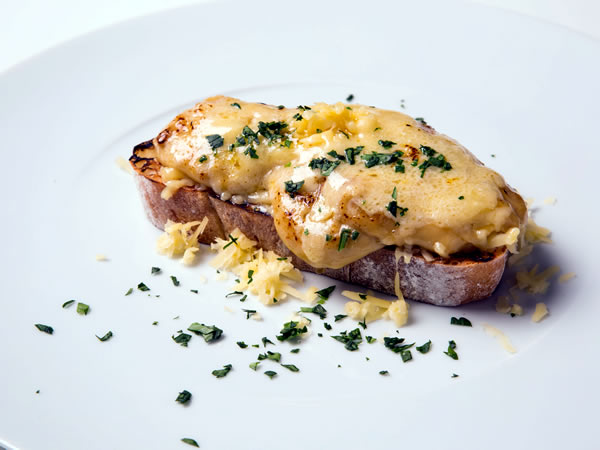 Welsh rarebit on ciabatta with mature cheddar Recipe - EatOut