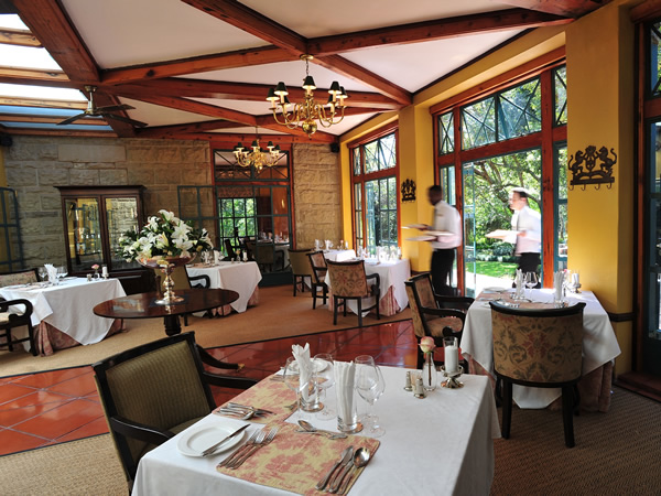 The Main Conservatory at De Hoek Country Hotel