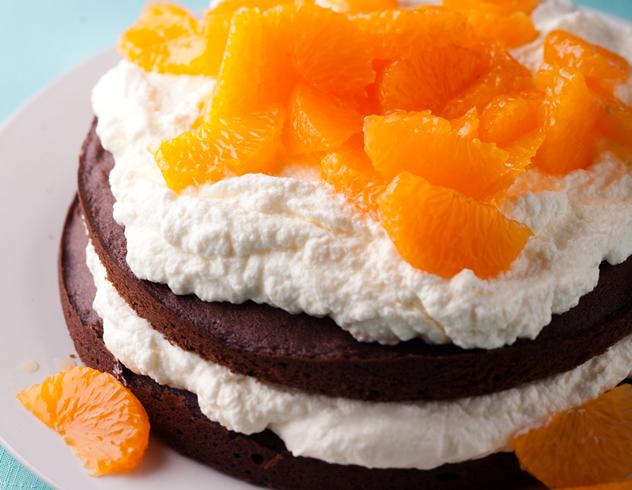 Chocolate, orange and cinnamon layer cake