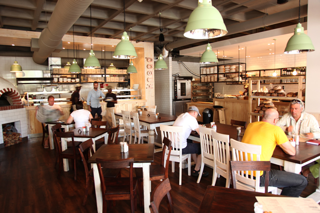 The interior at Knead Kloof Street. Photo courtesy of the restaurant.