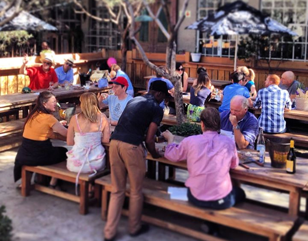 The relaxed outside area at Stanley Beer Yard. Photo supplied.