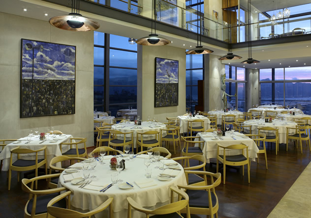 Inside The Restaurant at Waterkloof. Photo courtesy of the restaurant.