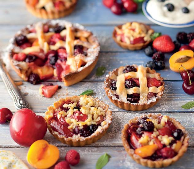 Fruit lattice tartlets