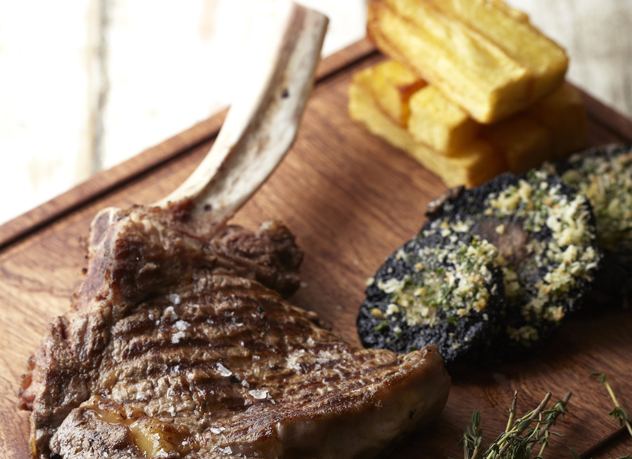 Steak and chips from Cafe Roux in Noordhoek. Photo courtesy of the restaurant.