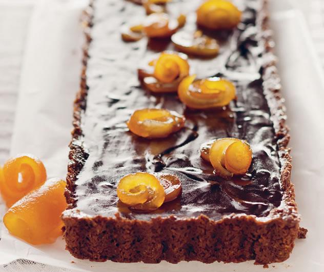 Chocolate and marmalade tart